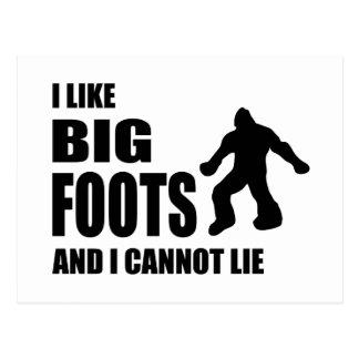 Tengo gusto de Bigfoots y no puedo mentir Postal