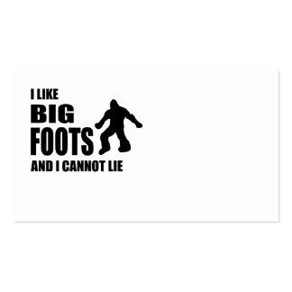 Tengo gusto de Bigfoots y no puedo mentir Tarjetas De Visita