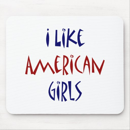 Tengo gusto de chicas americanos tapete de ratón