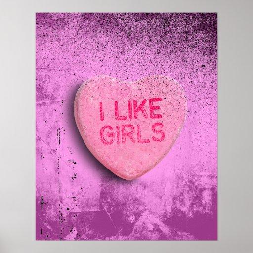 Tengo gusto de chicas póster
