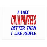 Tengo gusto de chimpancés mejores que tengo gusto  postales