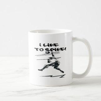 Tengo gusto de clavar tazas de café
