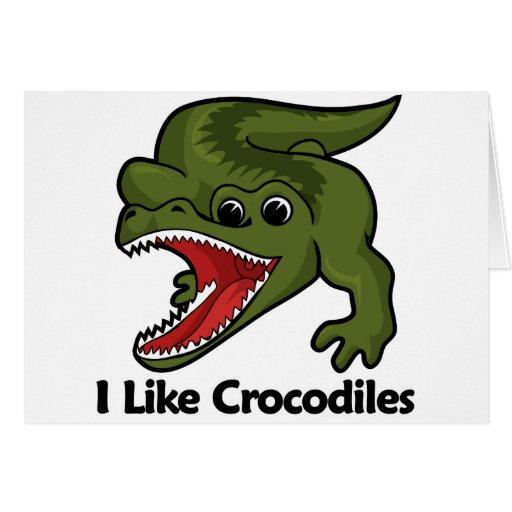 Tengo gusto de cocodrilos tarjeta de felicitación