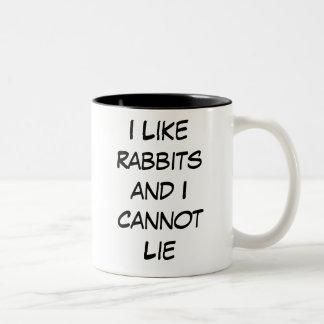 Tengo gusto de conejos y no puedo mentir taza
