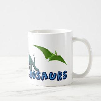 Tengo gusto de dinosaurios taza de café