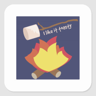 Tengo gusto de él Toasty Pegatina Cuadrada