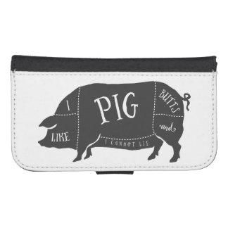 Tengo gusto de extremos del cerdo y no puedo billetera para teléfono