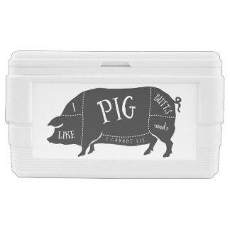 Tengo gusto de extremos del cerdo y no puedo cofre nevera