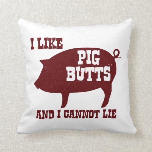 Tengo gusto de extremos del cerdo y no puedo cojín