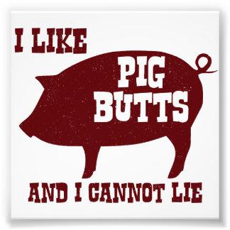 Tengo gusto de extremos del cerdo y no puedo cojinete