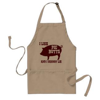 Tengo gusto de extremos del cerdo y no puedo delantal