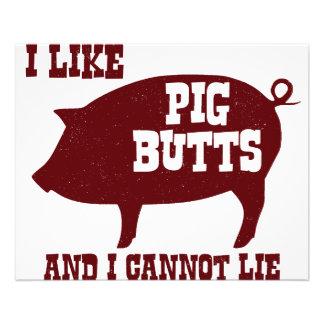 """Tengo gusto de extremos del cerdo y no puedo folleto 4.5"""" x 5.6"""""""