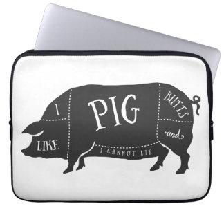 Tengo gusto de extremos del cerdo y no puedo funda ordendadores