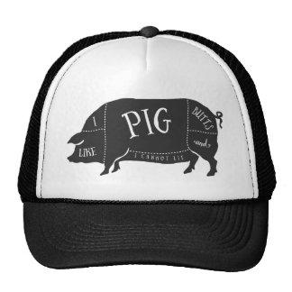 Tengo gusto de extremos del cerdo y no puedo gorros bordados