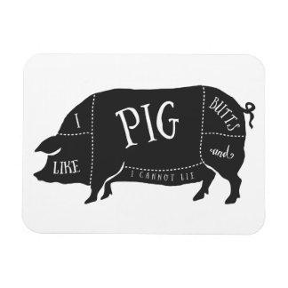 Tengo gusto de extremos del cerdo y no puedo imanes rectangulares