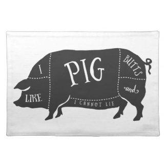 Tengo gusto de extremos del cerdo y no puedo manteles individuales