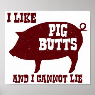 Tengo gusto de extremos del cerdo y no puedo menti posters