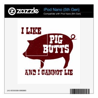 Tengo gusto de extremos del cerdo y no puedo menti calcomanías para iPod nano 5G