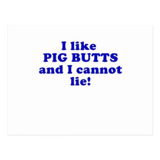 Tengo gusto de extremos del cerdo y no puedo menti tarjeta postal