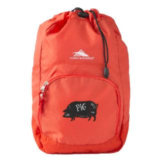 Tengo gusto de extremos del cerdo y no puedo mochila