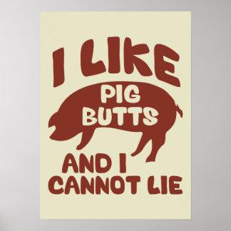 Tengo gusto de extremos del cerdo y no puedo poster