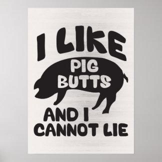 Tengo gusto de extremos del cerdo y no puedo impresiones