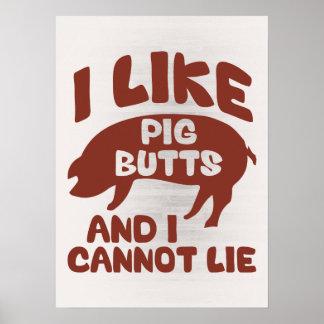 Tengo gusto de extremos del cerdo y no puedo posters