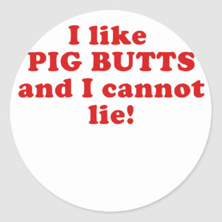 Tengo gusto de extremos del cerdo y no puedo pegatina redonda