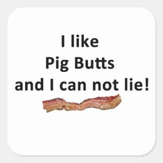 Tengo gusto de extremos del cerdo y no puedo pegatina cuadrada