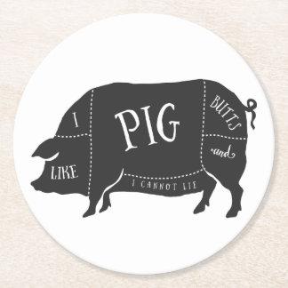 Tengo gusto de extremos del cerdo y no puedo posavasos desechable redondo