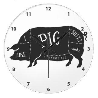 Tengo gusto de extremos del cerdo y no puedo reloj