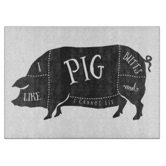 Tengo gusto de extremos del cerdo y no puedo tabla para cortar