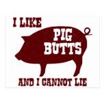 Tengo gusto de extremos del cerdo y no puedo tarjeta postal