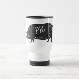 Tengo gusto de extremos del cerdo y no puedo tazas