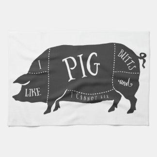Tengo gusto de extremos del cerdo y no puedo toalla de mano