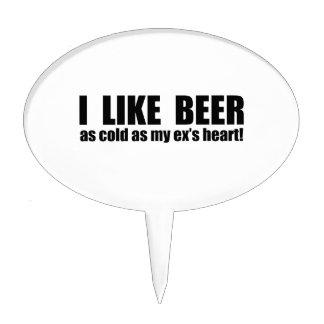 Tengo gusto de frío de la cerveza como mi ex coraz figura de tarta