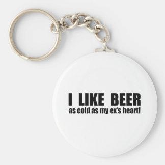 Tengo gusto de frío de la cerveza como mi ex coraz llavero