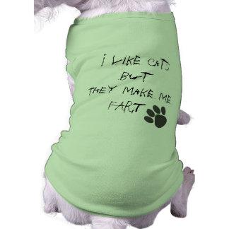 tengo gusto de gatos playera sin mangas para perro