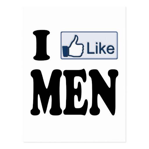 Tengo gusto de hombres postal