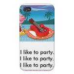 Tengo gusto de ir de fiesta iPhone 4 protectores