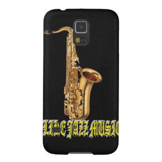 Tengo gusto de jazz de la música con el fondo funda de galaxy s5