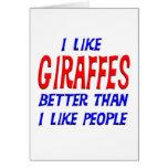 Tengo gusto de jirafas mejores que tengo gusto de  tarjetas