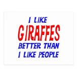 Tengo gusto de jirafas mejores que tengo gusto de  tarjetas postales