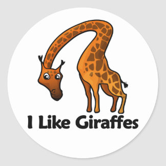 Tengo gusto de jirafas pegatina redonda