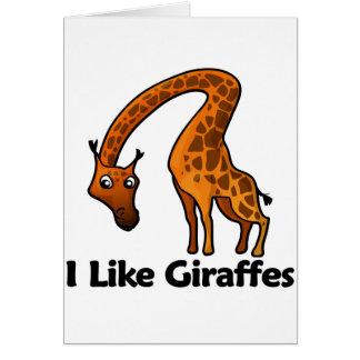 Tengo gusto de jirafas tarjeta de felicitación