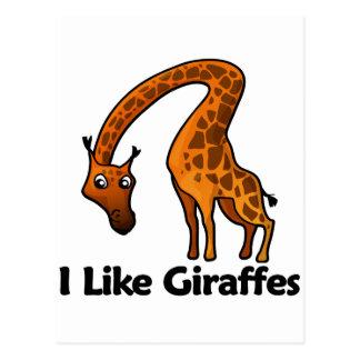 Tengo gusto de jirafas postales