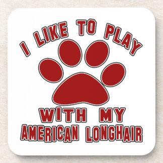 Tengo gusto de jugar con mi americano de pelo posavasos de bebida