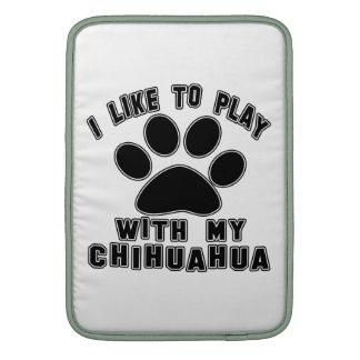 Tengo gusto de jugar con mi Chihuahua. Fundas Macbook Air