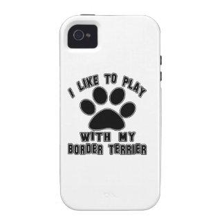 Tengo gusto de jugar con mi frontera Terrier Vibe iPhone 4 Carcasa