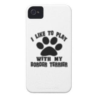 Tengo gusto de jugar con mi frontera Terrier iPhone 4 Case-Mate Fundas